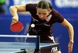 R.Paškauskienė pakilo į 80-ą poziciją geriausiųjų pasaulio stalo tenisininkių sąrašuose