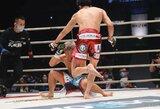 """""""Rizin 24"""": K.Asakura varžovą nokautavo futbolo spyrį priminusiu veiksmu, Japonijos žvaigždė T.Nasukawa šventė 38-ą pergalę kikbokse"""
