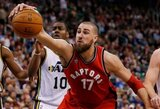 """""""Raptors"""" pralaimėjo trečią kartą iš eilės, J.Valančiūnas – arti dvigubo dublio"""