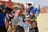 Šeštame etape B.Bardausko motociklo navigacinė įranga nesiunčia signalo
