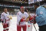 D.Zubrus ir Š.Kuliešius mušė įvarčius, A.Lukašenka dalino rezultatyvius perdavimus, o Baltijos rinktinė pralaimėjo baltarusiams