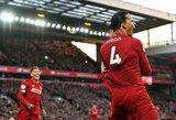 "Anglijoje – V.Van Dijko dublis, Alissono raudona kortelė ir ""Liverpool"" pergalė"