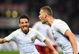"""Italija: užtikrintą pergalę iškovojusi """"Roma"""" sugrįžo į pirmąjį ketvertą"""
