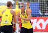 A.Rumševičius ir L.Každailis pateko į 4 žvaigždučių turnyro Brazilijoje aštuntfinalį