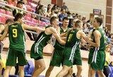 Lietuvos krepšininkai jaunimo olimpinį festivalį pradėjo pergalingai