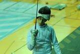 Europos jaunimo fechtavimo čempionate visi Lietuvos vaikinai krito antrajame atkrintamųjų varžybų rate