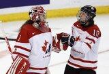 Pasaulio moterų ledo ritulio čempionato finale žais JAV ir Kanada