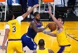 NBA čempionė titulo gynimą pradėjo nesėkme Los Andželo derbyje