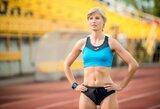 Maratonininkės R.Kergytės nuo bėgimo nesulaikė nei trauma, nei vestuvės