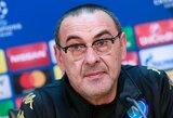 """M.Sarri: """"E.Hazardui geriau pasirodyti rungtynėse likus 25 ar 30 minučių, kai yra nukritęs žaidimo tempas"""""""