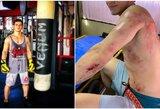 """""""UFC 248"""" programa pasikeitė: Rusijos kovotojo vairuojamas motociklas susidūrė su automobiliu"""