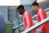 """Nerimo varpai """"Barcelona"""" stovykloje: susižeidęs O.Dembele gali praleisti lemiamas Čempionų lygos rungtynes"""
