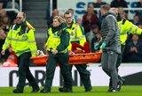 """Herojumi su """"Newcastle Utd"""" tapęs D.Origi pergalingą įvartį skyrė galvos traumą patyrusiam M.Salah"""