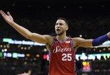 """Su pirminiu """"76ers"""" pasiūlymu nesutikusi """"Spurs"""" už K.Leonardą reikalavo B.Simmonso"""