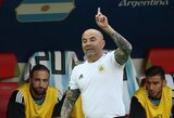 Argentinos rinktinės treneris J.Sampaoli jau sulaukė trijų šalių pasiūlymų