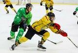 """Link pirmosios vietos reguliariajame sezone artėjanti """"Kaunas Hockey"""" ekipa įveikė """"Geležinį Vilką"""""""