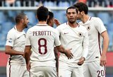 """""""Roma"""" įveikė """"Genoa"""" ir alsuoja į nugarą """"Juventus"""" klubui"""