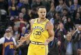 """10 S.Curry tritaškių ir sunki """"Warriors"""" komandos pergalė"""