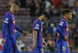 """Nauja """"Barcelona"""" realybė: G.Pique ir treneris sako, rezultatas su """"Bayern"""" yra dėsningas, žaidėjas buvo nusivylęs sirgalių švilpimu S.Roberto"""