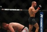 Buvęs UFC čempionas E.Alvarezas keliu nokautavo J.Gaethje, kuriam tai buvo pirmasis karjeros pralaimėjimas