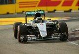 Singapūro GP kvalifikacijoje – triuškinanti N.Rosbergo pergalė ir S.Vettelio agonija