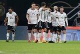 Tautų lyga: Vokietijos rinktinė užtikrintai susitvarkė su Ukrainos futbolininkais