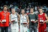 Čempionato MVP – G.Dragičius, geriausiųjų penkete – du slovėnai