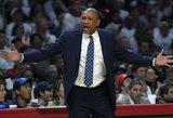 """D.Riversas prarado svarbias pareigas, bet lieka """"Clippers"""" treneriu"""