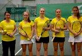"""Paaiškėjo Lietuvos moterų teniso rinktinės varžovės """"Fed Cup"""" turnyre"""