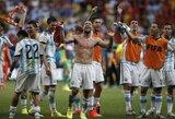 Argentina nugalėjo Belgiją ir po 24 metų pertraukos žais pasaulio čempionato pusfinalyje