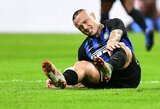 Milano derbyje traumą patyręs R.Nainggolanas išvežtas į ligoninę, L.Spalletti baiminasi ilgos reabilitacijos