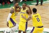 """R.Rondo su sirena išplėšė """"Lakers"""" pergalę Bostone"""