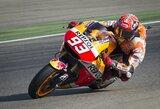 """Kvalifikacijoje nuo motociklo kritęs M.Marquezas iškovojo """"pole"""" poziciją"""