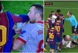 L.Messi pusfinalyje įsivėlė į konfliktą su J.Jordanu: geltona kortelė parodyta tik varžovui