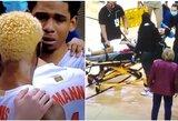 Krepšinio pasaulis sulaikė kvapą: NCAA žvaigždė aikštėje prarado sąmonę