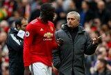 """J.Mourinho atskleidė, kodėl R.Lukaku dvikovoje su """"Everton"""" pasirodė tik po keitimo"""