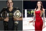 """A.Nunes sugrįš """"UFC 256"""" turnyre, jos pergalė gali panaikinti svorio kategoriją"""