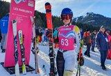 Kalnų slidininkė jaunimo olimpinėse žaidynėse pradžiugino ir save, ir trenerę