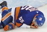 Šiurpu: NHL žaidėjo veidui prireikė 90 siūlių