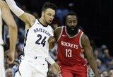 """Tragiškai atakavusi """"Rockets"""" įstengė laimėti Memfyje"""