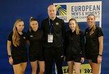 Lietuvos moterų badmintono rinktinė neprilygo belgėms