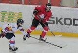 Lietuvos jaunių ledo ritulio rinktinė pasirengimą baigė pralaimėjimu prieš latvius