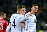 Pergales iškovoję kroatai ir vokiečiai užsitikrino bilietus į Europos čempionatą