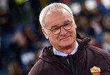 """Oficialu: C.Ranieri patvirtino, jog po šio sezono paliks """"Roma"""" ekipą"""