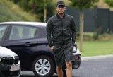 Pamatykite: E.Hazardas į Belgijos rinktinės treniruotes atvyko su kukliu automobiliu