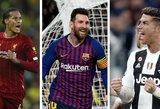 UEFA geriausio metų futbolininko rinkimų sąraše liko trys pavardės: V.Van Dijkas, L.Messi ir C.Ronaldo