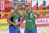 A.Rumševičius ir L.Každailis iškopė į prestižinio turnyro Lenkijoje pagrindines varžybas