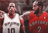 "K.Leonardo ir D.DeRozano mainai: ""Spurs"" ir ""Raptors"" perspektyvos"