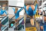 Pamatykite: Čempionų lygos finalo nuogalė nustebino gimnastikos triukais viešose vietose