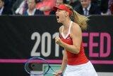 M.Šarapovos pastangų neužteko – stipriausia pasaulio moterų teniso rinktine vėl tapo Čekija